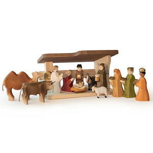 Swiss Wood Nativity Set - Special Order