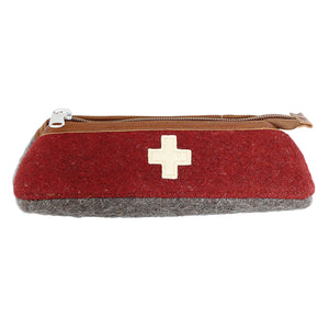 Swiss Army blanket pencil case closed