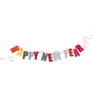 German Felt Garland  –  Happy New Year
