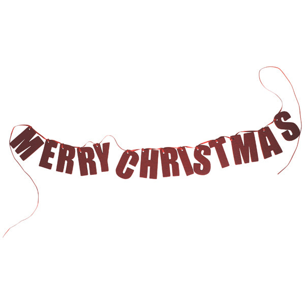 German Felt Garland – Merry Christmas