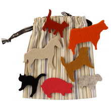 Load image into Gallery viewer, German Felt Farm Animal Play Set