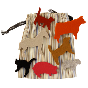 German Felt Farm Animal Play Set