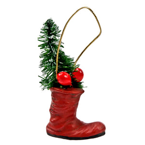 German Santa Boot Ornament