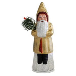 German Red and Gold Glitter Santa