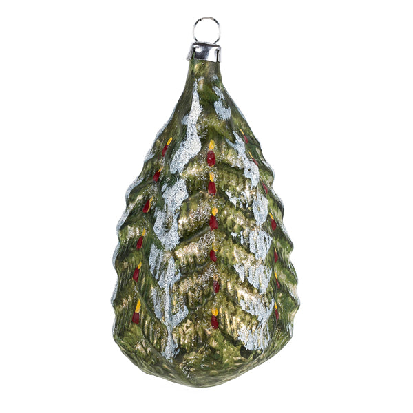 German Glass Christmas Tree Ornament