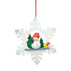 German Snowman with Snowflake Ornaments
