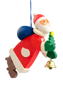 German Wood Santa Claus Ornament