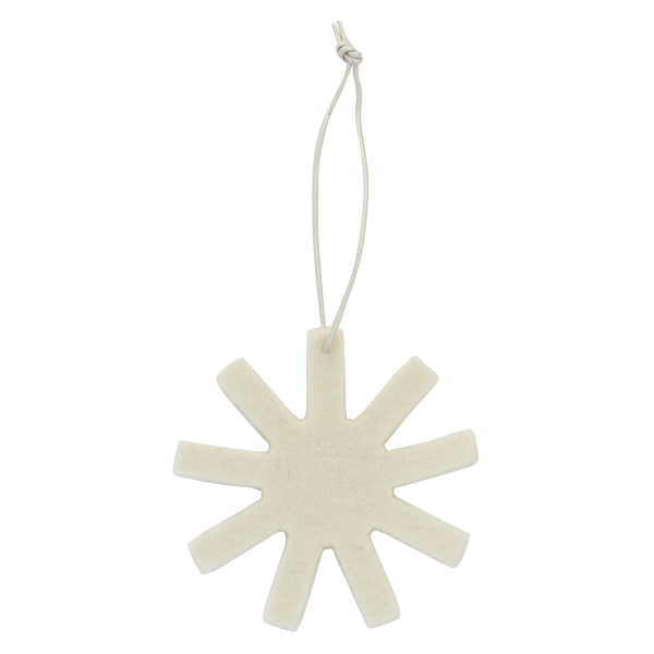 Finnish Felt Ornament Sets  –  White Snowflakes
