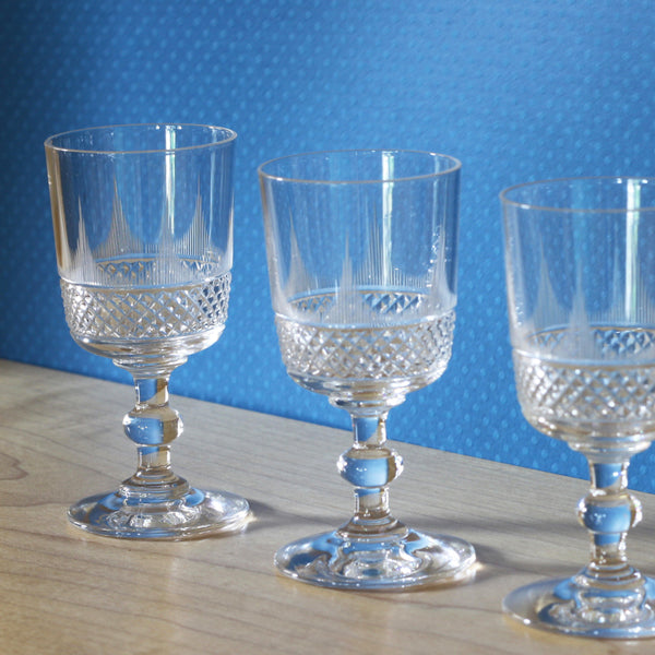 French Antique Crystal Aperitif Glasses – Baccarat – Set 1