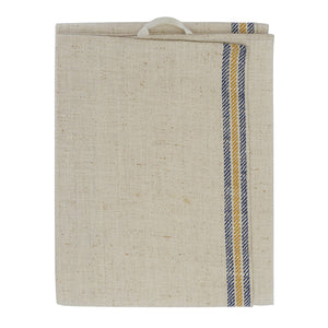 French Antique Kitchen Towel  –  Blue/Yellow