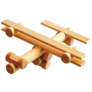 Latvian Wood Airplane Set