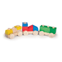 Load image into Gallery viewer, Latvian Wood Train Block Set