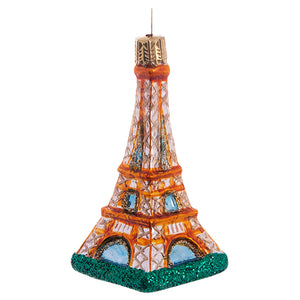 Polish Glass Eiffel Tower Ornament
