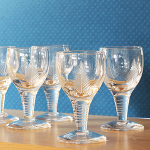 English Antique Aperitif Glasses