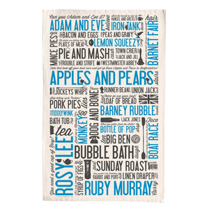 British Cockney Rhyming Slang Linens