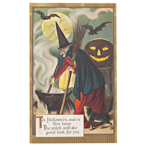Reproduction  Holiday Postcards - Halloween