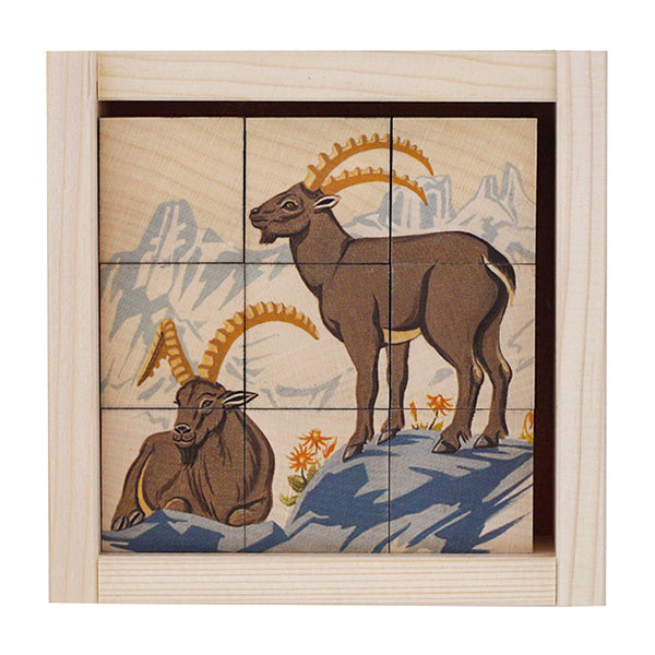 Swiss Mountain Animals Puzzle