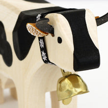 Load image into Gallery viewer, Swiss Wood Cow - Black Spots