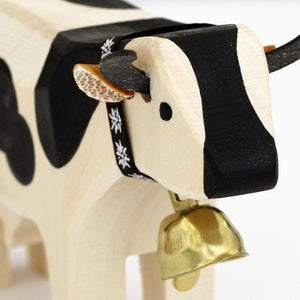 Swiss Wood Cow - Black Spots