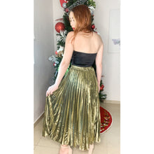Load image into Gallery viewer, Gold pleated skirt