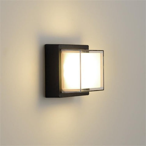 Square frameless wall light