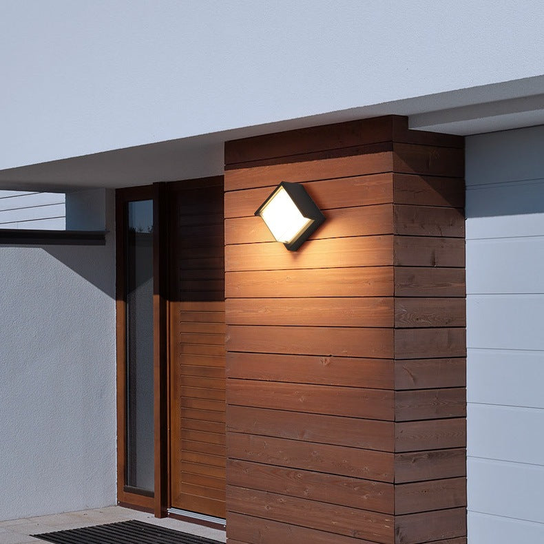 Square double shade wall light