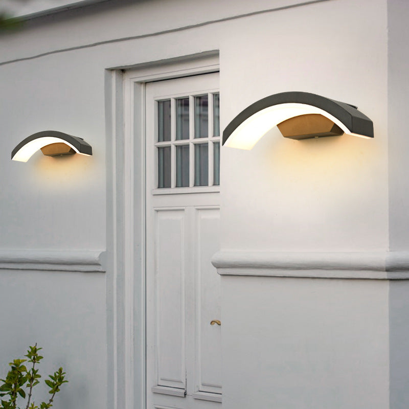 Eaves gray LED outdoor waterproof wall light