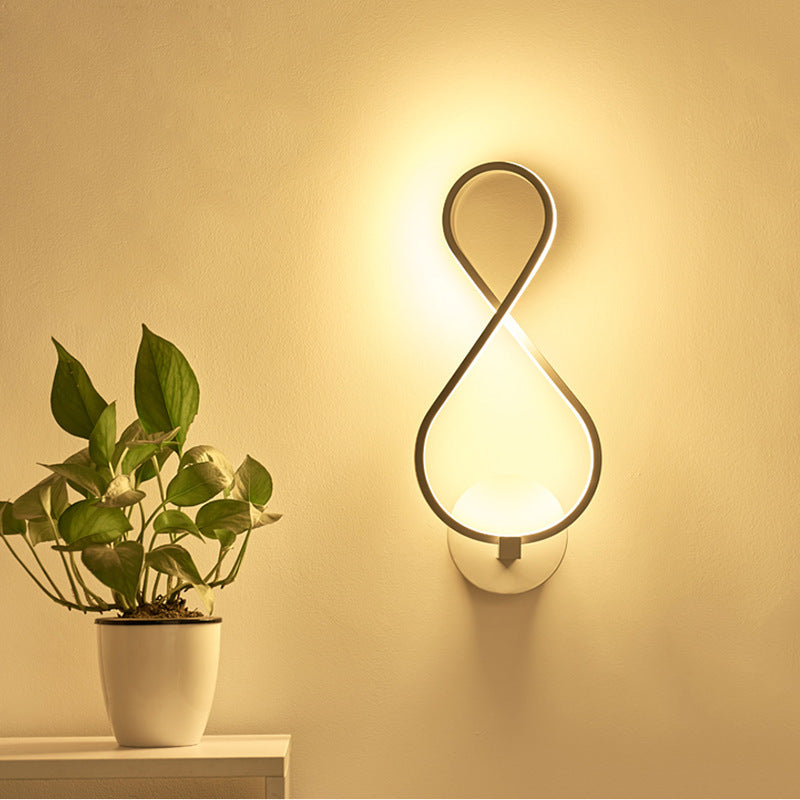 LED aluminum profile modern wall lamp