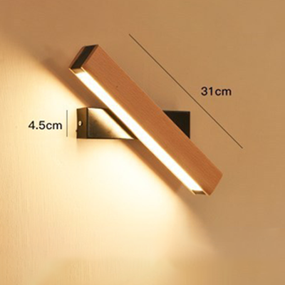 Creative rotating indoor LED wall light