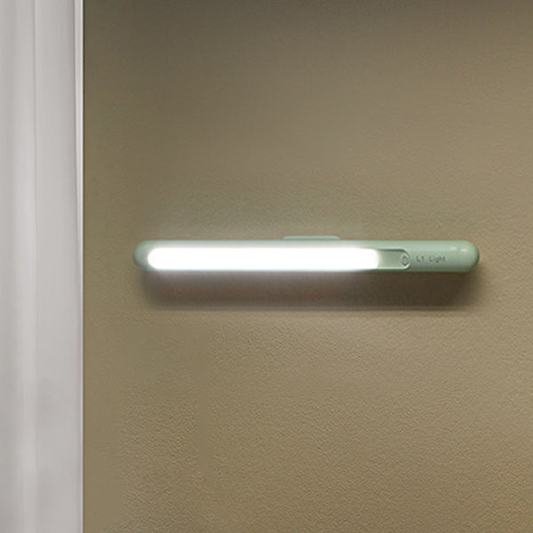 USB rechargeable touch sensor dimming LED night light with magnet clip wall light