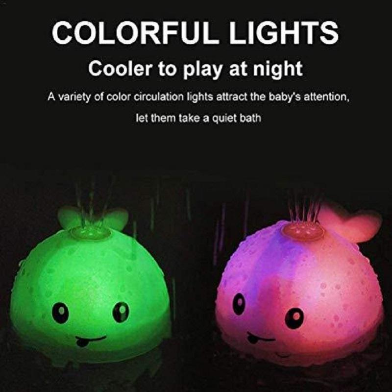 【Kids all love it!】Bathroom Water Spray Toy With Lights And Music