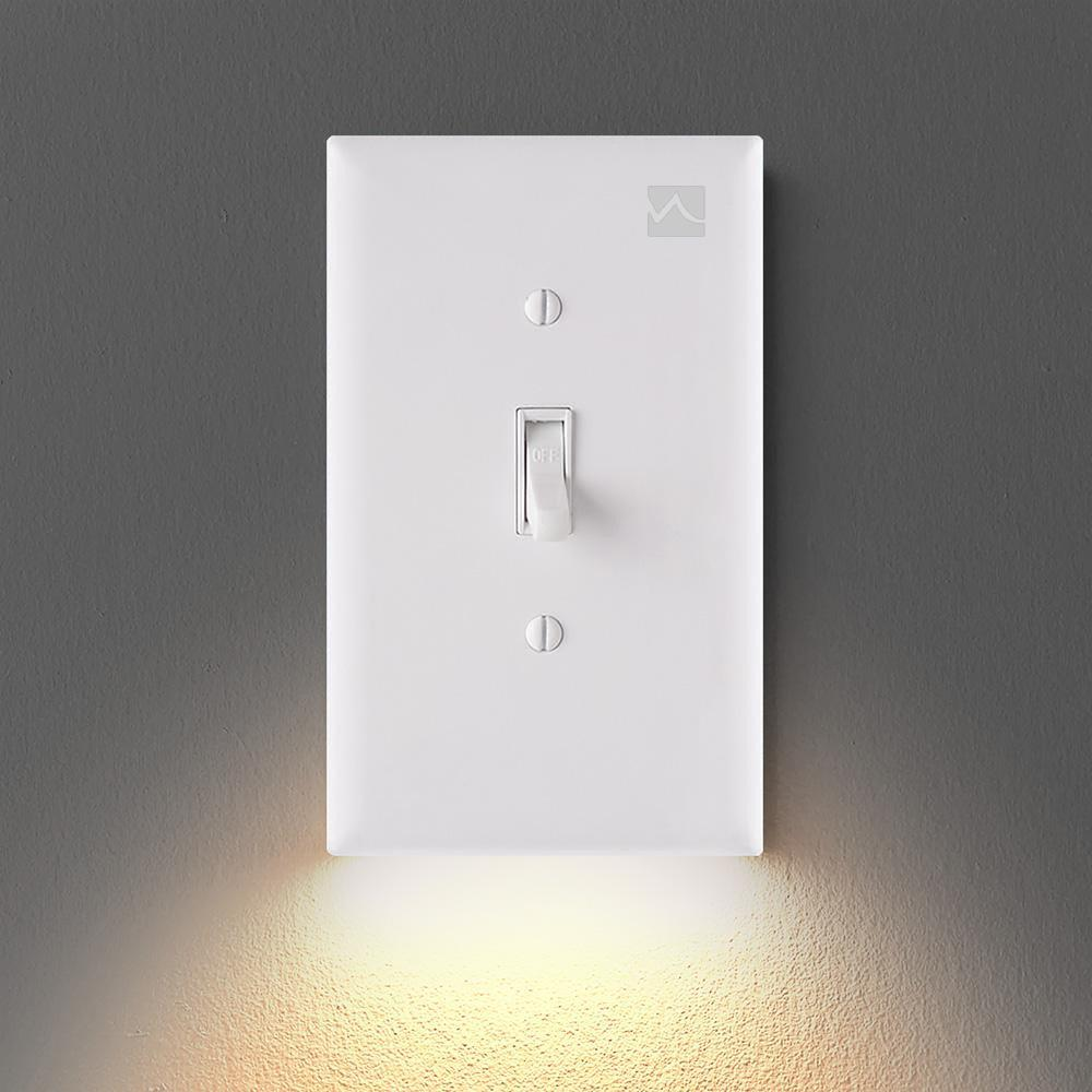 OUTLET WALL PLATE WITH LED NIGHT LIGHTS【UL FCC CSA CERTIFIED】
