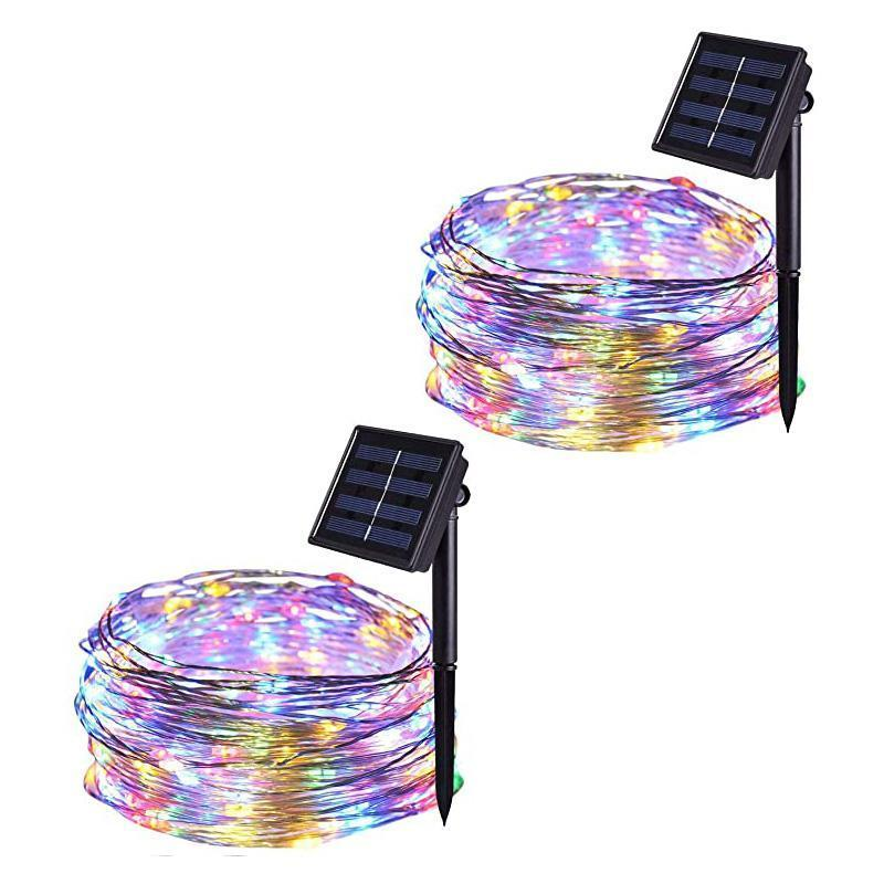 8 Modes Solar-Powered LED String Lights For Decoration
