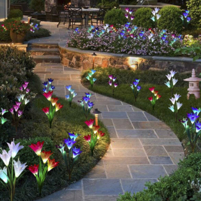 Solar Power Lily Flower LED Light-Bright your yard