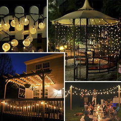 Solar-Powered Crystal Ball String Lights