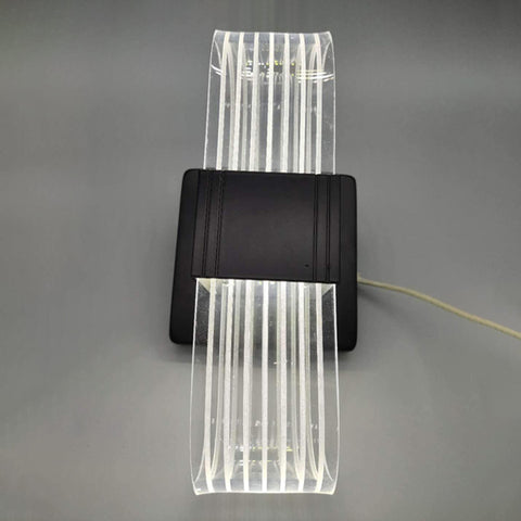 Acrylic luminous curved black LED wall light