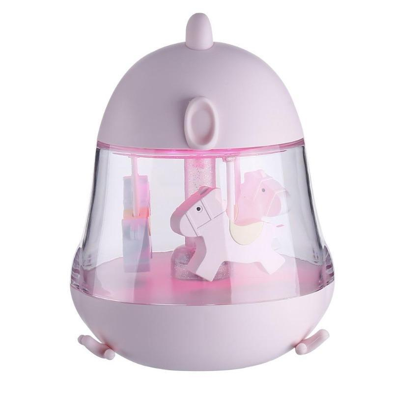 Carousel Music Box 7 Color Change Cartoon Night Light