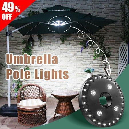Umbrella Pole Lights - Your umbrella got light!