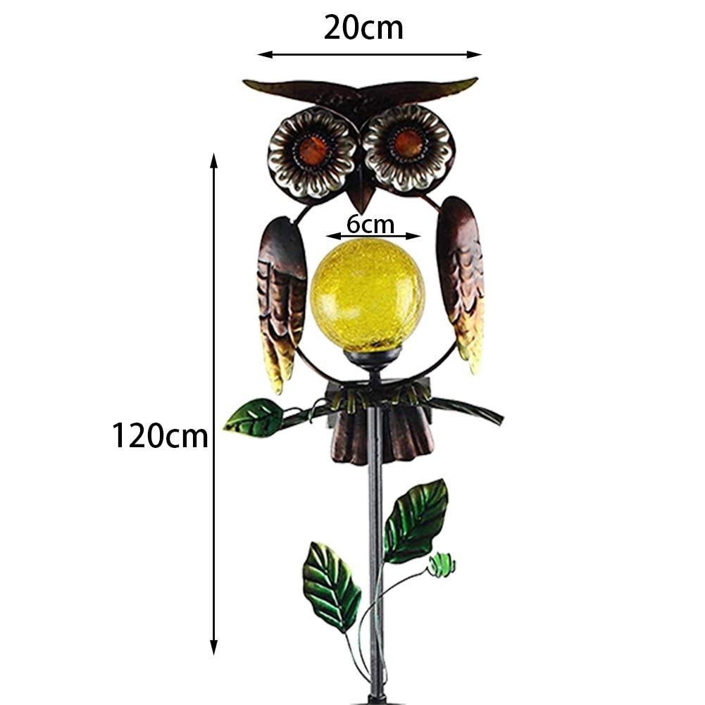 Copy of IRON OWL WITH SOLAR LAMP