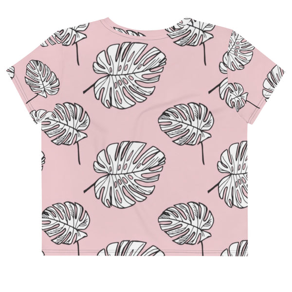 Mama Summer Leaf Crop Tee