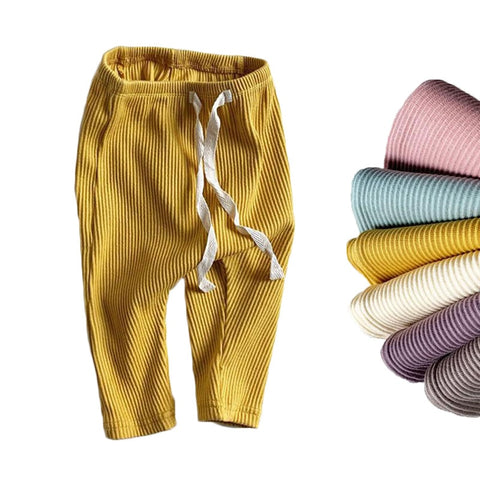 Solid Ribbed Harlem Pants