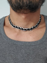 Load image into Gallery viewer, Men's Chocker Stainless Steel Leather Chain