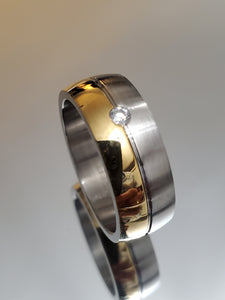 Two Tone Gold Band