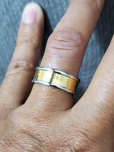 Load image into Gallery viewer, Golden Center Stainless Steel 8mm Yellow Gold Plated Band