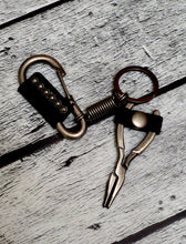 Load image into Gallery viewer, Wire Cutter Stainless Steel & Leather Keychain