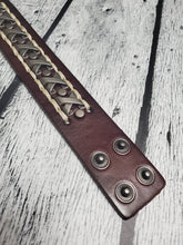 Load image into Gallery viewer, Brown Leather Stainless Steel Bracelet