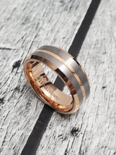 Load image into Gallery viewer, Rose PVD Gold Tungsten 8mm Band