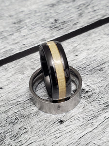 Tungsten Ceramic 8mm Mens Band