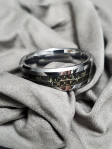 Heartbeat Tungsten 8mm Band