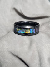 Load image into Gallery viewer, Tungsten Ring With Paua Shell 8mm
